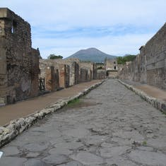 Streets of ancient Pompeii (Mount Vesuvius 79 AS)