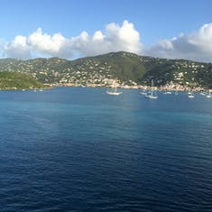 St. Thomas Harbor. Love watching sea planes coming and going.