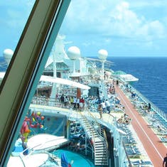 Freedom of the Seas - view from Viking Crown Lounge