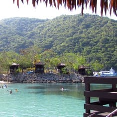 view from private cabana over the water in Labadee