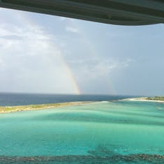 Castaway Cay (Disney Private Island) - Double rainbow at the private island