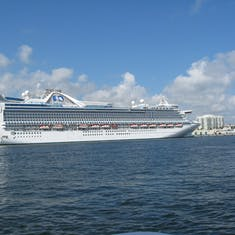 Our ship at the intermediate port--Ft Lauderdale