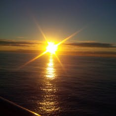 Pacific sunrise from balcony
