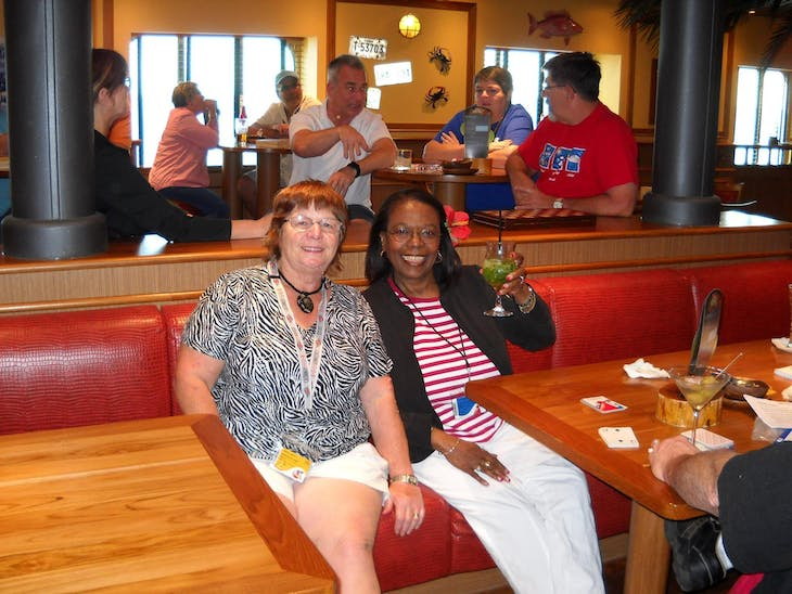 At our meet and greet in the Red Frog Pub! - Carnival Miracle