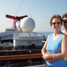 Photo op on deck.