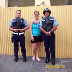 I had a run in with the law in San Juan.