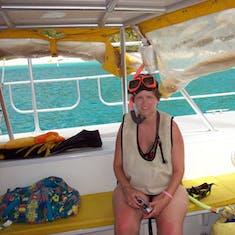 Champagne catamaran ride to St. John.
