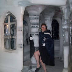 Ice chapel at Magic Ice ice bar.