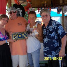 Owners of Jack's Shack. They collect license plates, cheese & dark roast coffee.