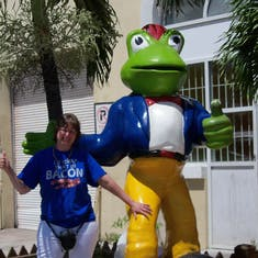 Nassau, Bahamas - He gets a thumbs up from me.