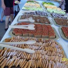 Food at the island BBQ on  Half Moon Cay.