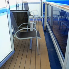 Our elongated balcony.