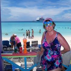 Beautiful backdrop at Half Moon Cay.