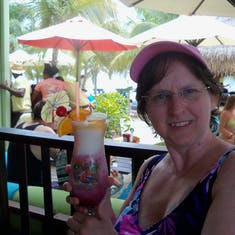 Grand Turk Island - A raspberry something at Margaritaville.