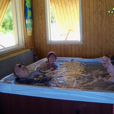 Hot tub in the villa on Half Moon Cay.