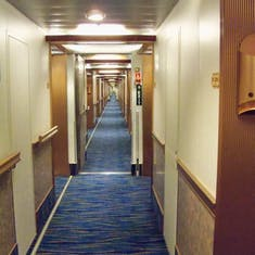 The VERY LONG hallway we had to walk every time we got on and off the ship.