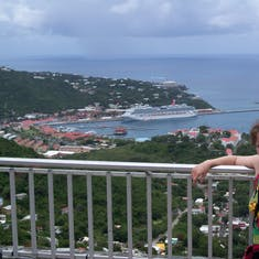 Charlotte Amalie, St. Thomas - The lookout the cabby stopped at.