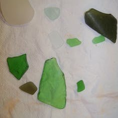 Sea glass I collected on the beach at Grand Turk.