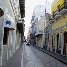 San Juan, Puerto Rico - Narrow cobblestone streets.
