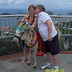 Charlotte Amalie, St. Thomas - Lookout we stopped at so we could get pictures. Her name is Monika Lewinski. LOL