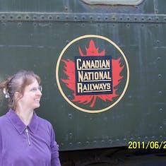 A train car.