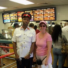Nassau, Bahamas - My run in with the law at Burger King in Nassau.
