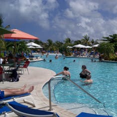 Grand Turk Island - Part of the pool in Margaritaville.