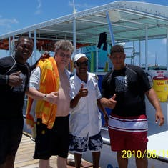 Grand Turk Island - The crew on our stingray excursion.