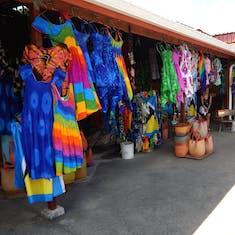 Straw market in St. Lucia.