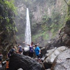 Dominica, rain forest hike to Sari Sari Falls.