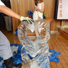 Ice carving.