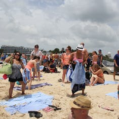 Maho Beach Crowd