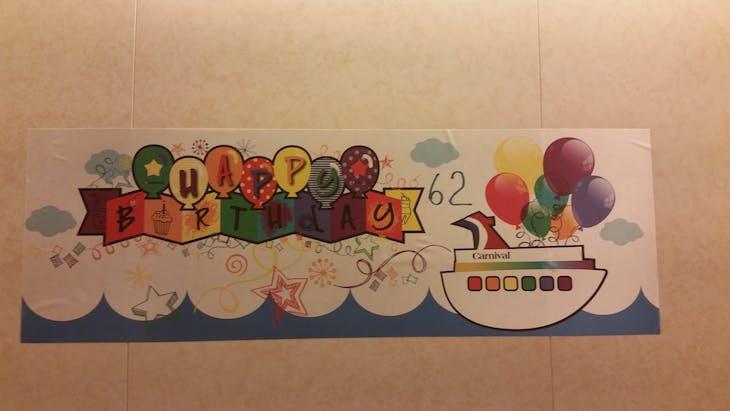 birthday surprise - Carnival Glory