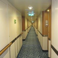 hallway to cabin