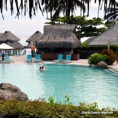 Pool at The Hilton Moorea Resort & Spa