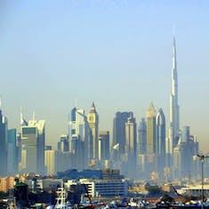 Skyline view of Dubai, UAE