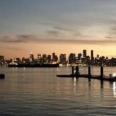 A view of Vancouver from North Vancouver