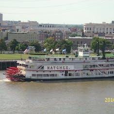 Riverboat Natchez, we were racing!  We won!