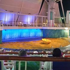 The water show stage (sad we never saw it!)