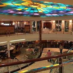 atrium area of the ship