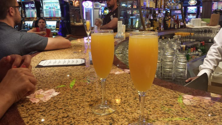 $1 Mimosa's for Breakfast in the Casino - Jewel of the Seas