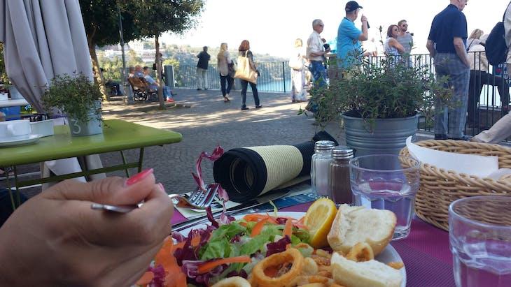 Naples, Italy - Dining on the Sorrento Coast.