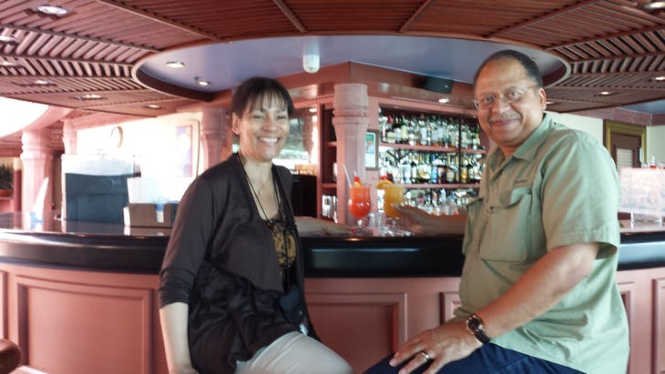 Our Private Bar in the Solarium - we shared with lots of nice people - Jewel of the Seas