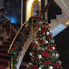 Princess decorated our ship for Christmas