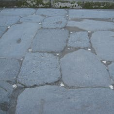 Naples, Italy - Pompeii--white stones marked streets for moonlight or torches