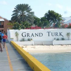 From the dock at Grand Turk