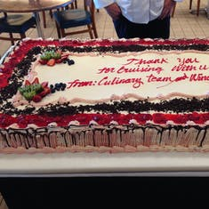 Farewell cake in the Windjammer