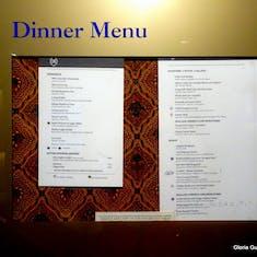 Dinner menu Posted
