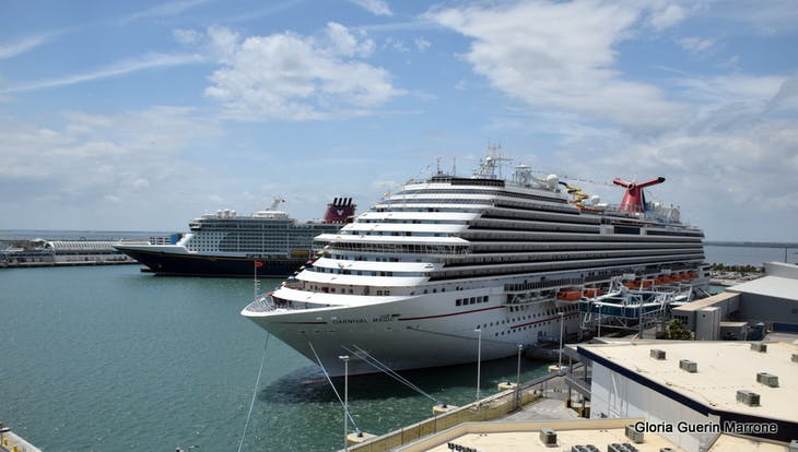 Port Canaveral, Florida - View of Carnival Magic & Disney Ship in Port
