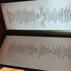 O'Sheehan's menu on the Norwegian Jewel (May 2017)